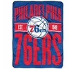 Northwest 1NBA-65902-0020-RET 46 x 60 in. NBA Philadelphia 76ers Clear Out Micro