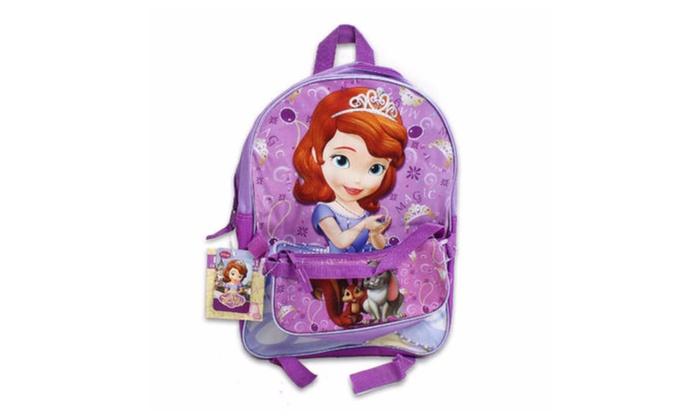 Disney Princess Sofia The First Backpack w/ Detachable Mini Hand Bag