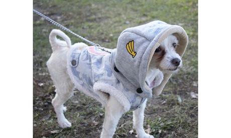 TouchdogOutlaw Designer Embellished Retro-Denim Pet Dog Hooded Jacket Coat d33c7223-9967-49a4-b7ca-0ff3528e043d