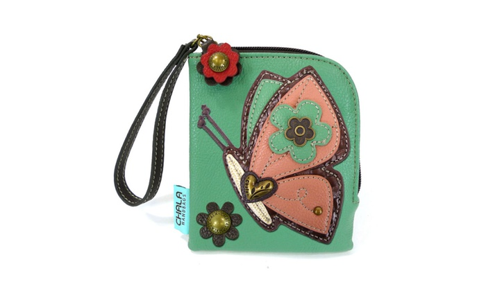 Chala Handbag Zip Wallet Flux Leather (Butterfly)