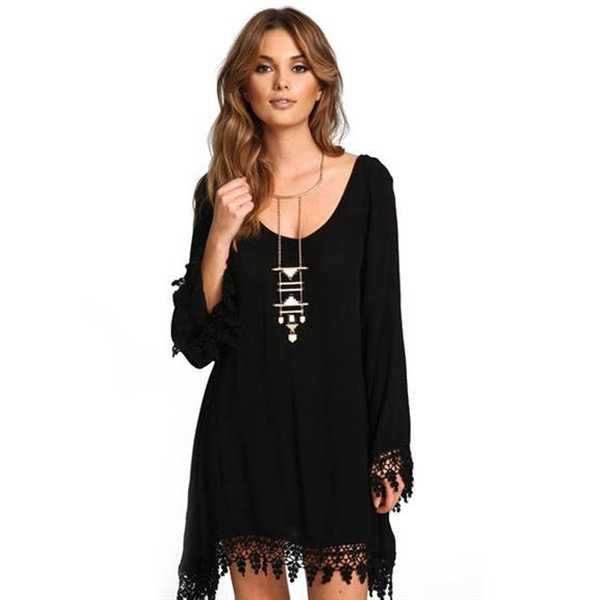 c072ea0851f1 Up To 81% Off on Women s Long Sleeve Lace Stit...