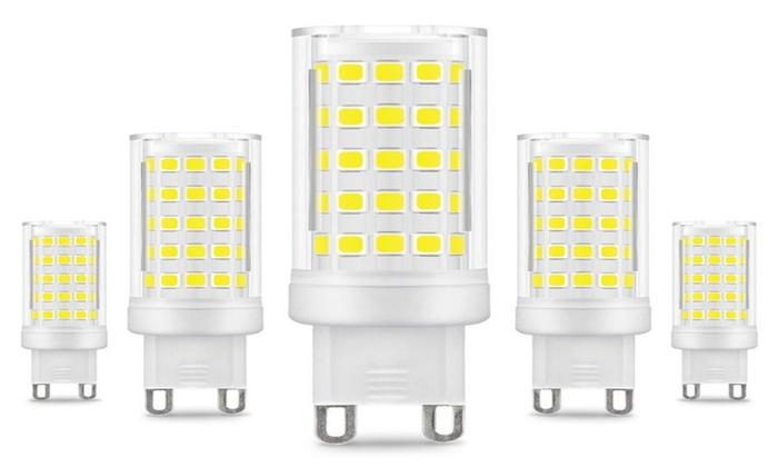 5 Pack 8W G9 LED Bulbs 70W Halogen Bulb Equivalent