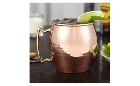 Authentic 100% Solid Copper Hammered Moscow Mule Mug 18oz
