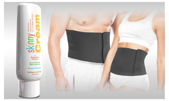 Buy It Now : Belly Fat Burner Kit-Skinny Cream 6oz and Waist Trimmer Belt Kit
