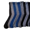 12 Pair Of Sockbin Mens Thick Warm Winter Thermal Socks Marled Yarn