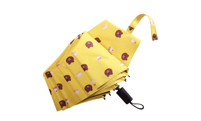 Cuzit Bear Canopy 3 Folding Parasol Sun Protection Anti Uv Umbrella