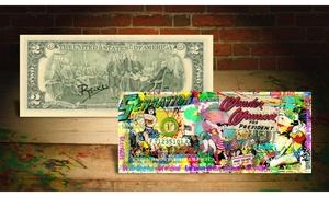 Wonder Woman Colorized U.S. $2 Bill by Rency