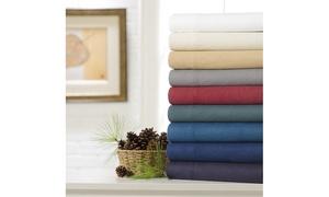 Exquisite Hotel Cotton Flannel Sheet Set (3- or 4-Piece)
