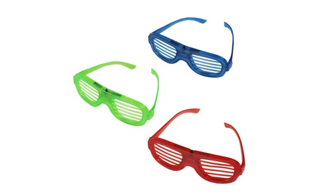 JNTworld LED Light Up Shutter Neon Glasses for Halloween Glowing Party 0f44fbc5-0b59-4200-a587-45a3a7fe397d
