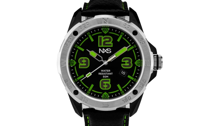 Nxs kadono men 39 s miyota quartz watch genuine leather exceptional luminescence groupon for Luminescence watches