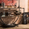 """Blakes 50"""" Industrial-Style Distressed-Wood Console Table"""
