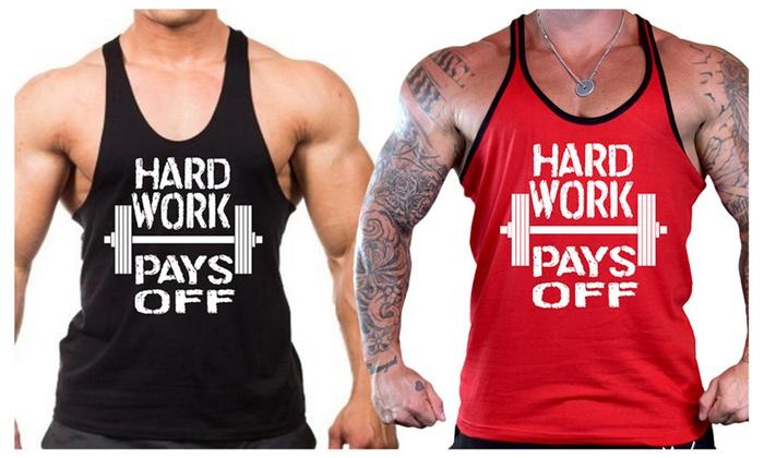 Men's Hard Work Pays Off Stringer Tank Top