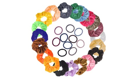 Hair Scrunchies and Ties Gift Set (30-Pack)