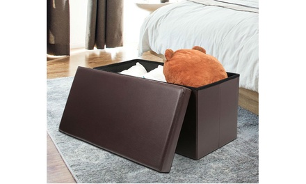 "30"" Folding Storage Ottoman Bench"