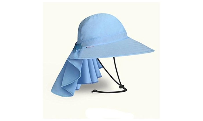 Summer Outdoor Womens Big Brim Sun Hat Uv Protection Quick Dry Hat