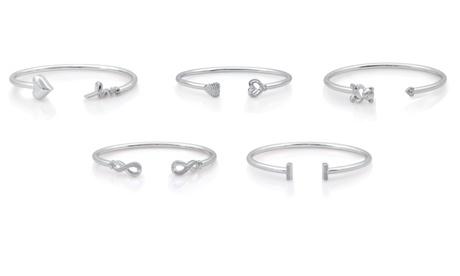 Diamond Accent Flexi Bar Bangle in Sterling Silver By DeCarat 3c4a9e54-2c66-4e4e-8f51-45719a80d62f