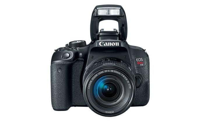 Refurbished Canon Rebel T7i with 18-55 STM & 55-250 Lenses