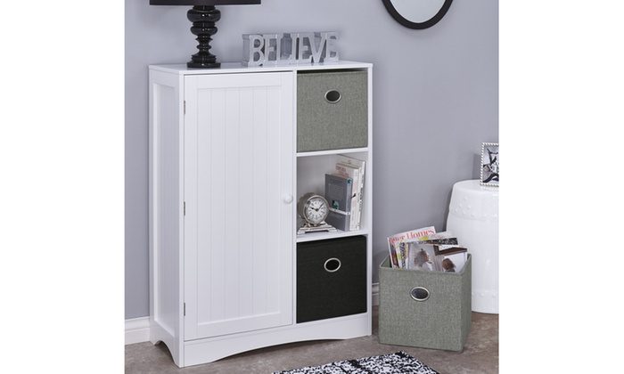 Kids Single Door 3 Cubby Cabinet ...
