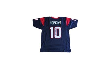 Autographed DeAndre Hopkins Houston Texans Custom Jersey Blue FHS267 875903e7-93dc-4075-8cc2-7750281cca46