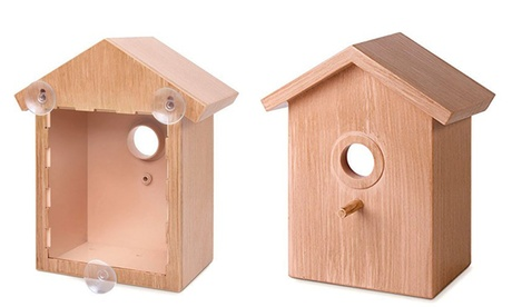 See Through Window Mirrored Bird House - Suction Cup Window Bird House (Goods Outdoor Décor Bird Feeders & Baths) photo