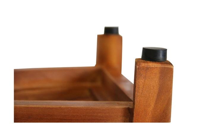 Ala Teak wood Corner Bath Spa Shower Stool Corner Table Bench Stool ...