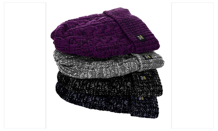 Womens Polar Extreme Warm Insulated Thermal Knit Cuffed Beanie Winter