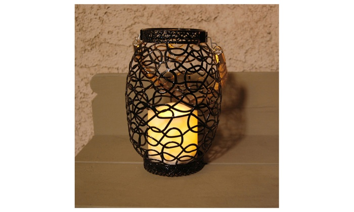 Metal Wire Lanterns With LED Timer Candle