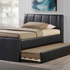 Arlington Faux Leather Trundle Bed