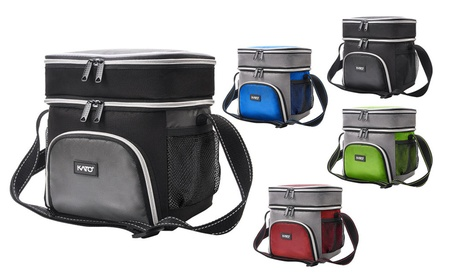 Dual Compartment Bento Insulated Lunch Bag b33f42d0-0f8f-483d-b51e-bff01ffe09d3