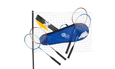 Badminton Set Complete Outdoor Yard Game with Carrying Case for Kids and Adults