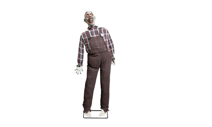 Halloween Life Size Farmer Zombie Animated Rocking Moving Torso Prop | Groupon