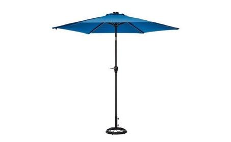 Living Accents UMS90BKOBD34 9 ft. Blue Solar Market Umbrella c8c9584b-c277-48dd-8195-e6ae9dbceca0