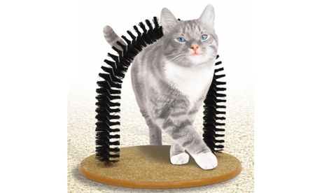 New Pet Cat Arch Self Groomer Massager Groom Toy Cat Scratcher Fur Grooming Kit 30729290-33f3-4b75-b570-3c4832c7fab4
