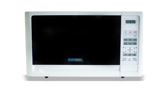 Black Amp Decker 0 9 Cu Ft Countertop Microwave Oven In