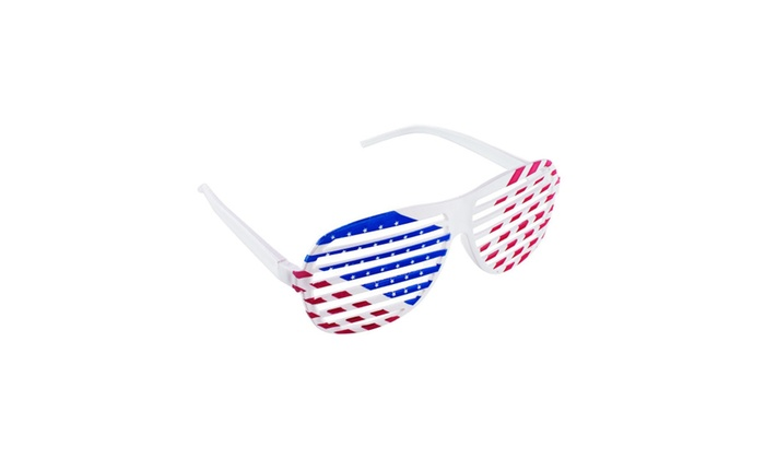47395f5ee06 American Flag USA Patriotic Design Plastic Shutter Glasses Shades ...