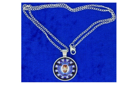 Iron Man Necklace or Keychain Tony Stark's Arc Reactor and Mask 682a1ec3-4822-4454-9841-534a0dc74036