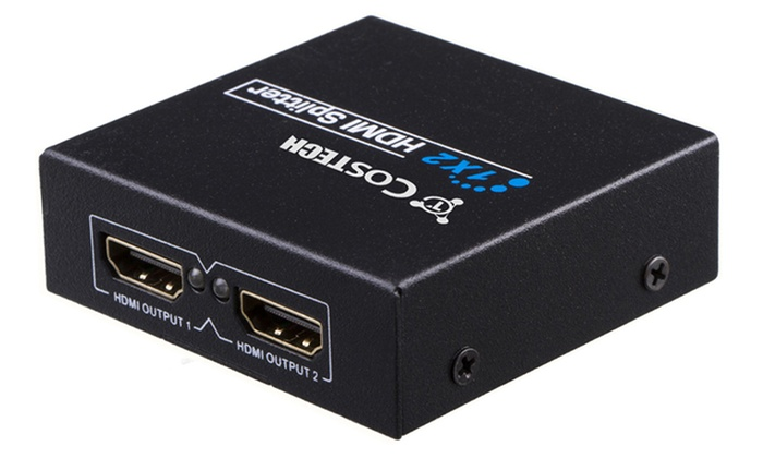 Up To 74% Off on HDMI Splitter 4 Port 1x2 Full    | Groupon