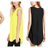 Plus Size Women's Summer Chiffon Vest Top Sleeveless Tank Tops Blouse