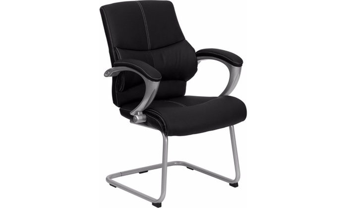 Superb Black Leather Executive Side Chair Pdpeps Interior Chair Design Pdpepsorg