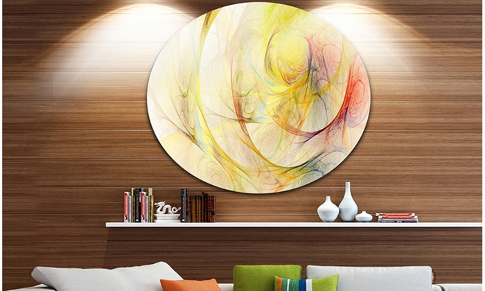 Up To 7 Off On Yellow Storm Sky Disc Abstra Groupon Goods