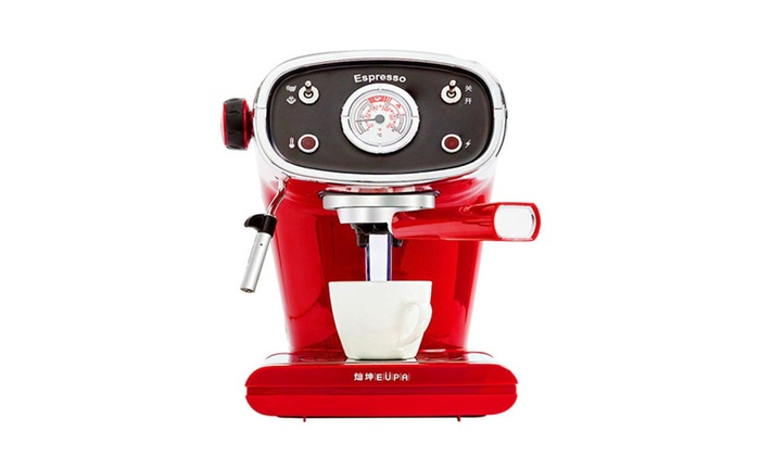 Household Retro Italian Style Semi Automatic Coffee Machine