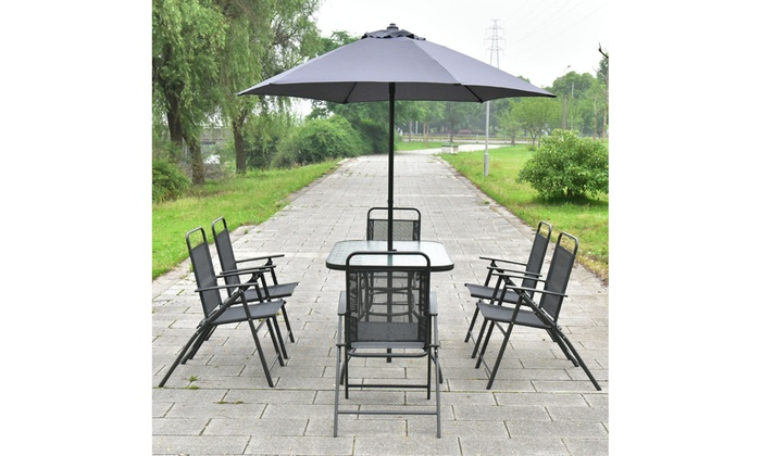 Astounding Up To 3 Off On Costway 8Pcs Patio Garden Set Groupon Goods Machost Co Dining Chair Design Ideas Machostcouk