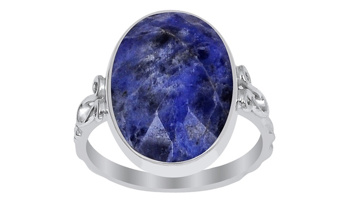 Quot Orchid Jewelry S Quot 5 95cttw Genuine Sodalite St Silver
