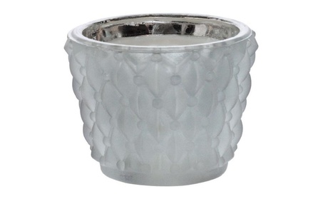 Inglow Cat11665gy Crystalline Glass Flameless Candle With Timer, Grey 7f9b6cdb-d2c7-4601-99e6-17a28e9ec878