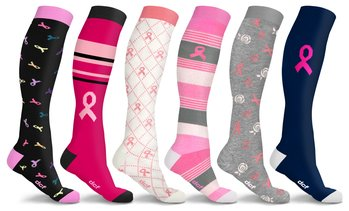 DCF Breast Cancer Support Compression Socks (3-Pack)