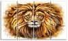 Angry King of Forest - Animal Glossy Metal Wall Art