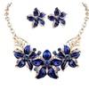 Amazing Flower Necklace Earrings Party Wear Set for Woman