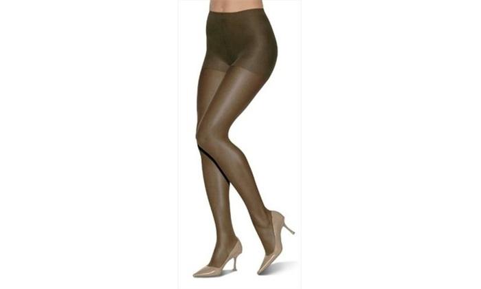 90836b2c11b00 Leggs Off Black Everyday Control Top Sheer Toe Pantyhose Size B - Pack Of 3  | Groupon