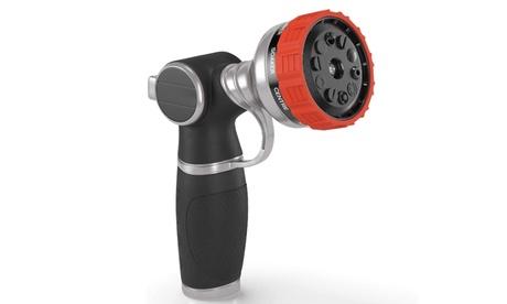 Heavy Duty Garden Hose Nozzle Hand Sprayer with 10 Adjustable Spray Patterns