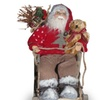 "National Tree 7.8"" Sitting Santa with Snow Sleigh"